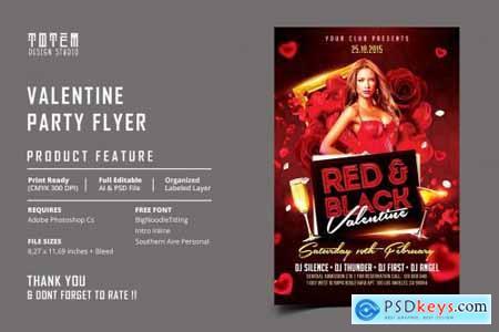 VALENTINE PARTY FLYER 4546857
