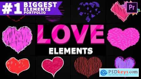Cartoon Love Elements Premiere Pro MOGRT 25691969