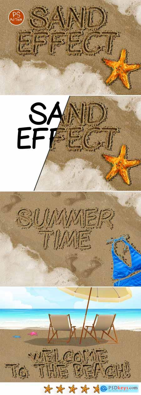Sand Writing Photoshop Action 21054110