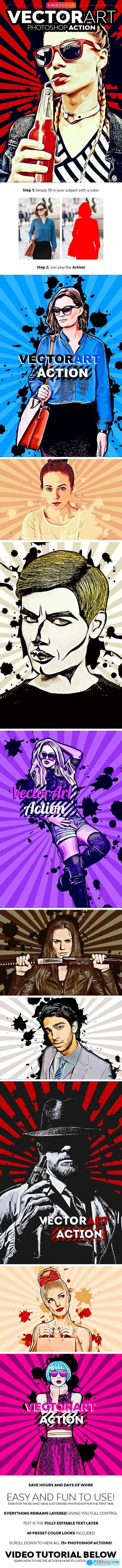 VectorArt Photoshop Action 23467041