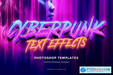 Cyberpunk 80s Text Effects 4557425