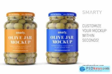 Olives jar mockup 4405359