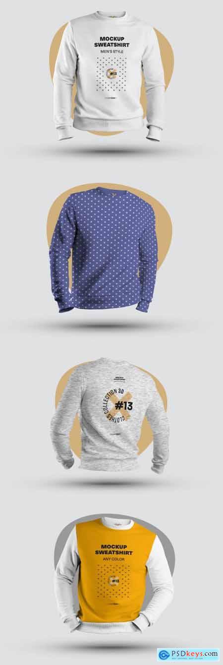 4 Mockups of Mens 3D Sweatshirts 321128151