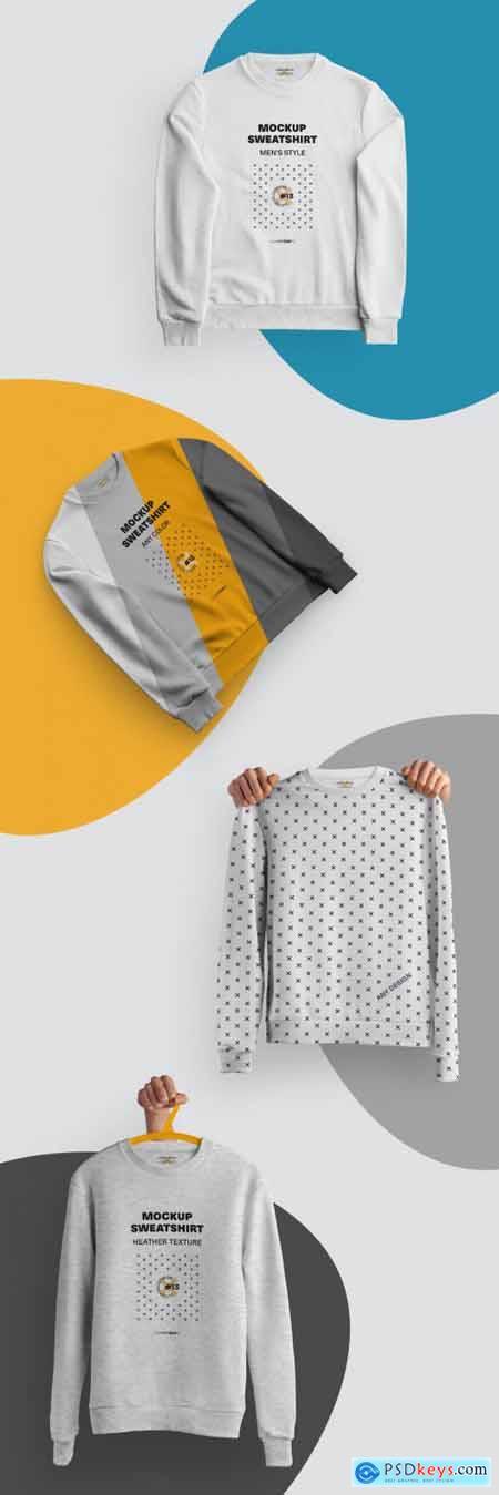 4 Mockups of Isolated Sweatshirts 321129201