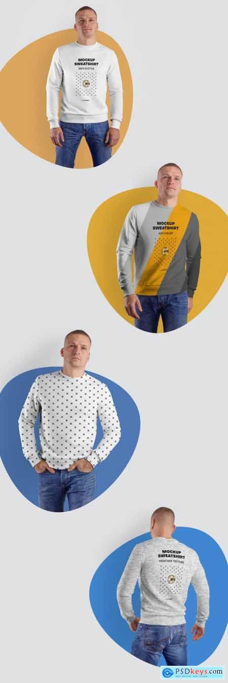4 Mens Sweatshirts Mockups 321128406