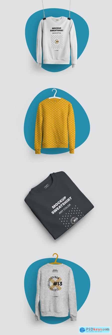 4 Mockups of Isolated Sweatshirts 321128924