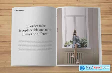 US Letter Brochure Mockup Top View