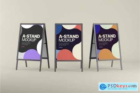 Advertising A-Stand Mockup Set 4430491