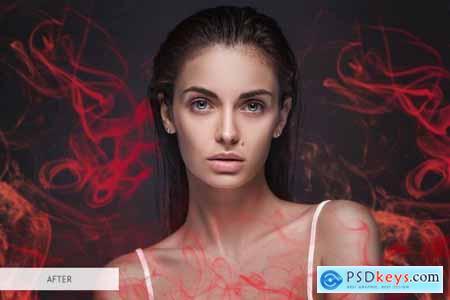 Red Smoke Photoshop Overlays 3894299