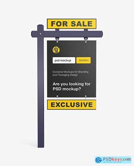 Matte Real Estate Sign Mockup 55248