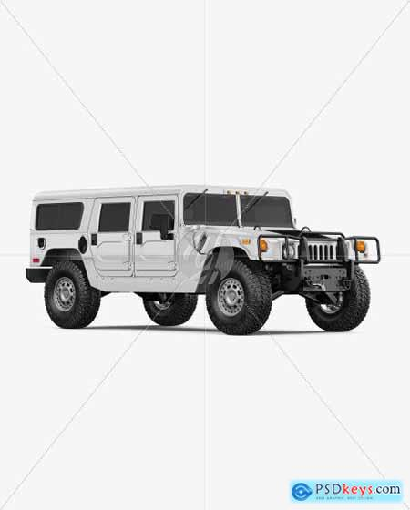 Off-Road SUV Mockup - Back View 55240