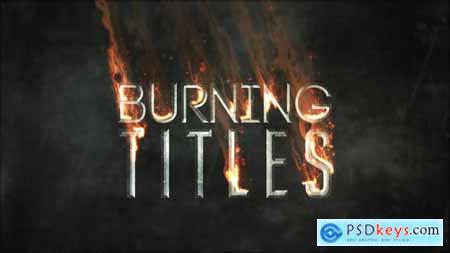 Videohive Burning TItles 21775445
