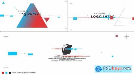 Videohive Color Glitch Logo Intro 23780642