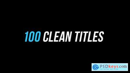 Videohive 100 Clean Titles After Effects Version 25565292