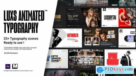 Videohive Luxs l Animated Typography Pack 25096569