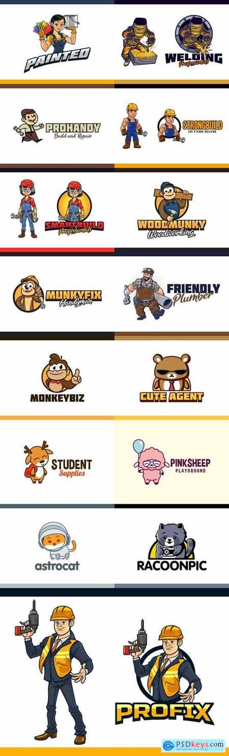 Cartoon Mascot Logo Pack