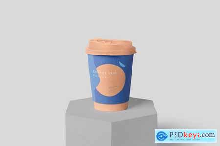 Disposable Coffee Cup Packaging Sleeve Mockups
