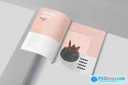 US Letter Magazine Page Mockups