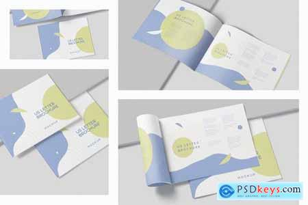 US Letter Landscape Slim Brochure Mockups