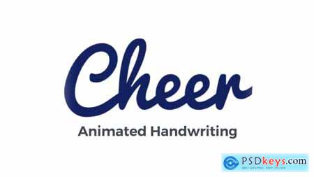 Videohive Cheer Animated Handwriting Typeface 20929630