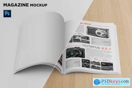 Magazine Mockup Front View