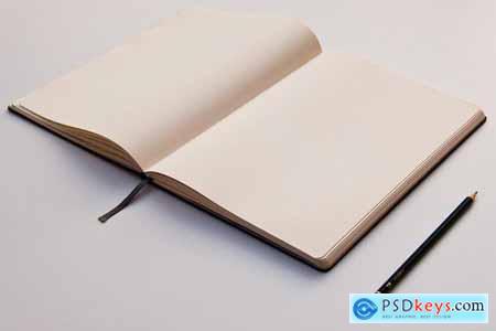 Sketchbook Mockup Perspective View
