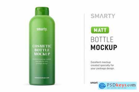 Matt cosmetic bottle mockup 4539154