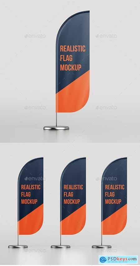 Realistic Flag Mockup 25624980
