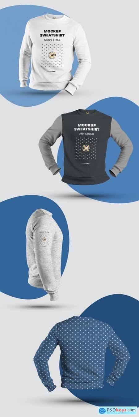 4 Mockups of Mens 3D Sweatshirts 322175040