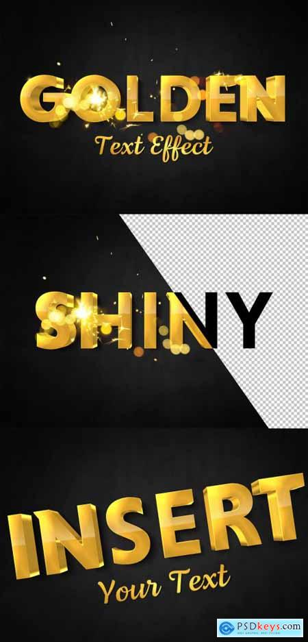 3D Gold Text Effect with Spark Elements 322108663