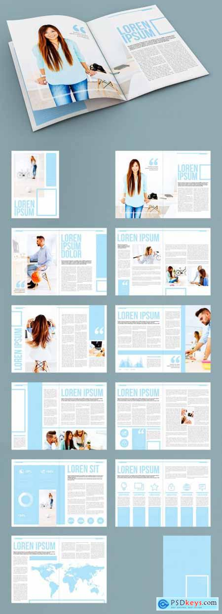 Light Blue and White Presentation Layout 322173360