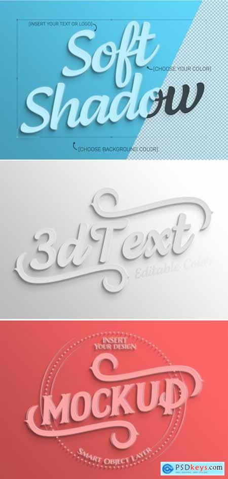 Simple White 3D Text Effect 322108186