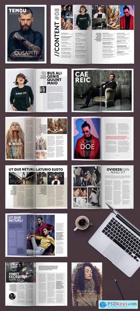 Modern Style Magazine Layout 322175358