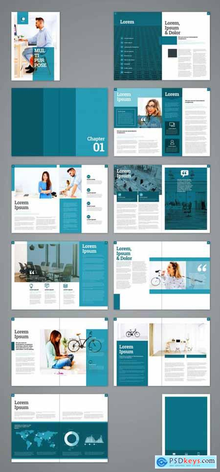 Teal and White Brochure Layout 322173583