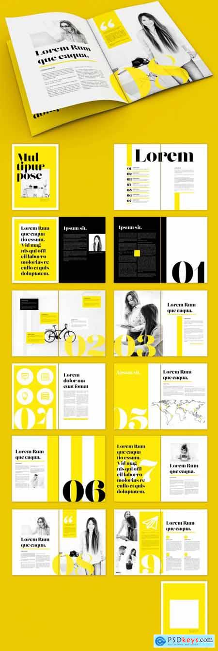 Yellow and Black Magazine Layout 322173194