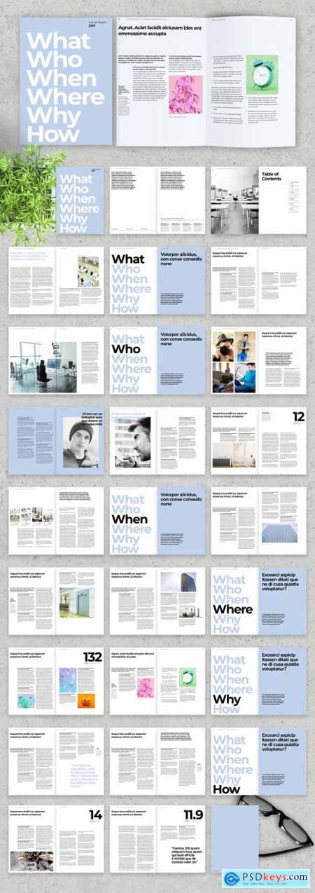 Light Blue and White Annual Report Layout 322173249