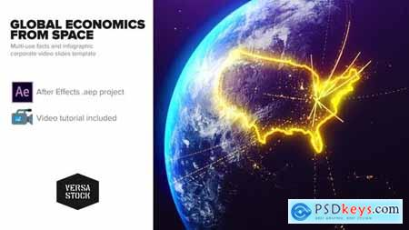 Videohive Global Economics From Space Infographics 25031384