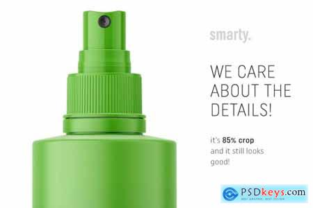 Matt spray cosmetic bottle mockup 4512948
