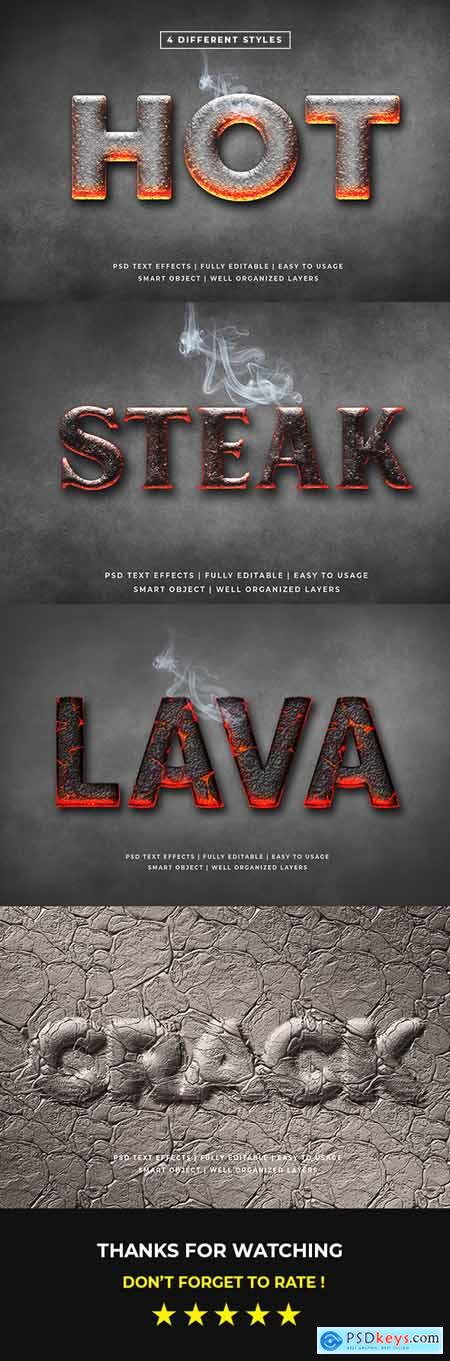 Hot 3d Text Style Effects Mockup 25632987