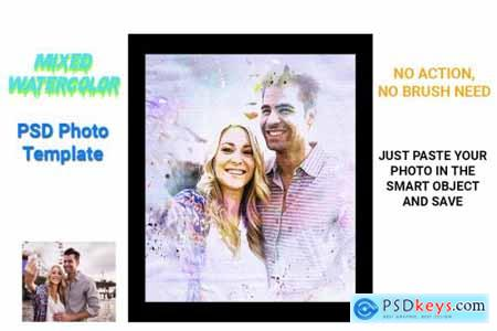 Mixed Watercolor Photo Template 4537993