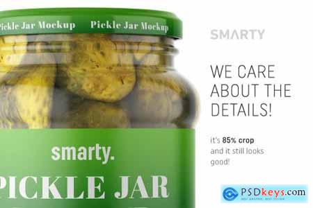 Pickle jar mockup 4388662