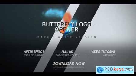 Butterfly Logo Opener l Elegant Logo Opener l Flipping Wings Logo Opener 25587488