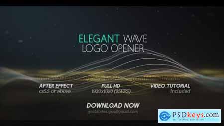 Elegant Wave Logo Opener l Particles Lines Logo Opener 25444371