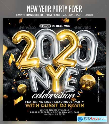 New Year Party Flyer 25119514