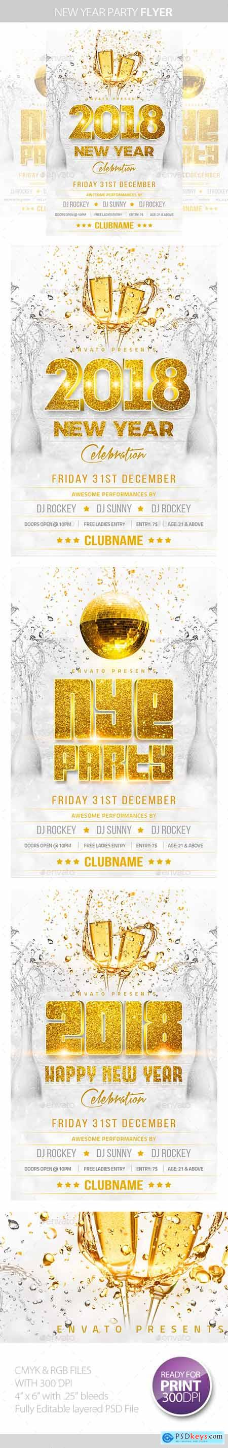 New Year Party Flyer 13670368