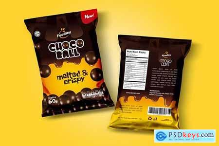 Choco Ball Snack Packaging Template