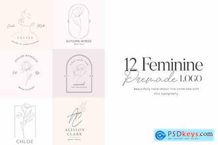 Feminine Premade Logo