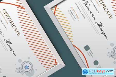 Vintage Geometry Certificate Diploma Template Pro