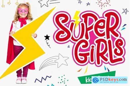 Supergirls - Kids Font
