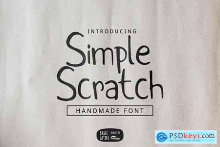 Simple Scratch Font